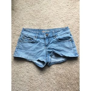 Ultra Low Rise Jean Shorts